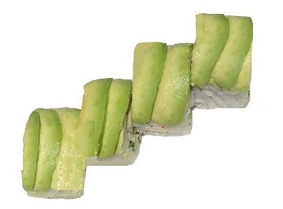 Foto Zalm roll met avocado topping